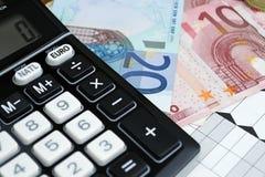 Euro en convertor royalty-vrije stock afbeeldingen