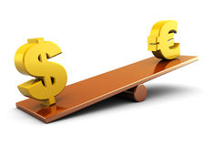 Euro en dollar Stock Fotografie