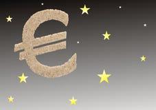 Euro en el cielo de la estrella Fotografía de archivo libre de regalías