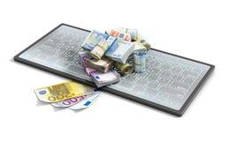 Euro en el teclado Fotos de archivo libres de regalías