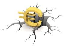 Euro en gat Royalty-vrije Stock Foto's