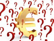 Euro en la pregunta Fotografía de archivo
