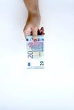Euro 20 en main Photographie stock