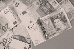 Euro en Ponden achtergrond Stock Foto