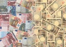 Euro en Yen vector illustratie