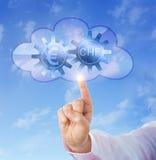 Euro en Zwitsers Franc Interlocking In The Cloud stock foto