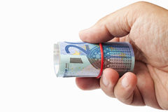 Euro enroulé Images libres de droits