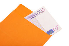 500 Euro In Envelope Royalty Free Stock Images
