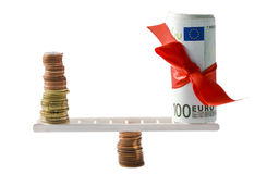 Euro equilibrio Fotografia Stock