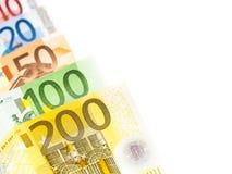 Euro estratto dei soldi Immagine Stock Libera da Diritti