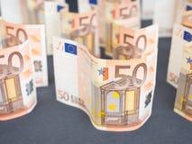 Euro estratto dei soldi Immagini Stock