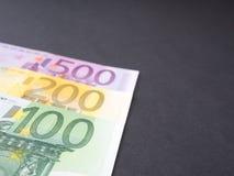 Euro estratto dei soldi Fotografia Stock