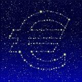 Euro estrelado do céu Foto de Stock