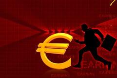 Euro et courant homme d'affaires Image stock