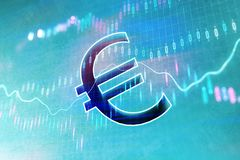 Euro et diagramme de marché boursier illustration de vecteur