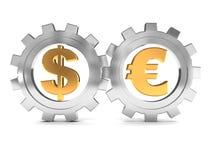 Euro et dollar illustration libre de droits