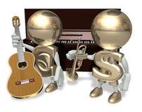 EURO et guitare Photo libre de droits