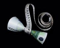 Euro et mètre Photo libre de droits