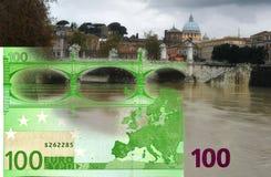 Euro et St Peter à Rome Photographie stock libre de droits