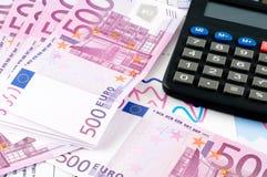 Euro et tableau Photos stock