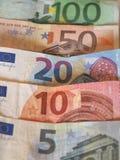 Euro-EUR-Anmerkungen, EU der Europäischen Gemeinschaft Lizenzfreie Stockfotografie