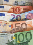 Euro-EUR-Anmerkungen, EU der Europäischen Gemeinschaft Lizenzfreie Stockfotos