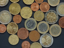 Euro (EUR) coins, currency of European Union (EU) Royalty Free Stock Photography