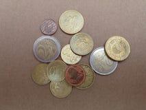 Euro EUR-muntstukken Royalty-vrije Stock Afbeeldingen