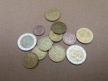 Euro EUR-muntstukken Royalty-vrije Stock Afbeelding