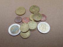 Euro EUR-muntstukken Royalty-vrije Stock Fotografie