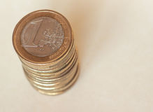 Euro EUR-muntstukken, Europese Unie de EU Royalty-vrije Stock Afbeelding