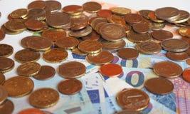 Euro EUR-nota's en muntstukken, Europese Unie de EU Stock Fotografie