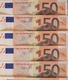 Euro EUR notes, European Union EU Royalty Free Stock Image