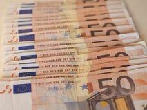 Euro EUR notes, European Union EU Royalty Free Stock Photo