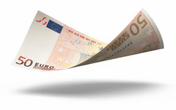 50 Euro Euro banknotes. 3d render Fifty Euro banknotes close-up (isolated on white and clipping path Stock Photography