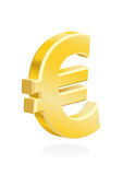 Euro - european currency symbol gold Stock Photography