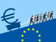 Euro. The European Union is making great efforts to maintain the euro Royalty Free Stock Image
