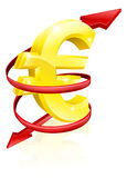 Euro exchange rate concept Stock Photo