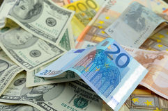 Euro exchange rate growth. Royalty Free Stock Image