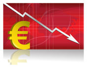 Euro Exchange / Vector. Business worries with euro losing graph.  file available Stock Photo
