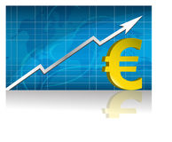 Euro Exchange / Vector. Euro currency trading graph.  file available Royalty Free Stock Photo