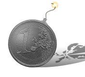 Euro- explosão ilustração stock