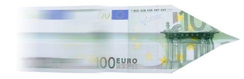 euro för 100 flygplan Arkivbild