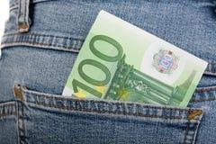 euro för 100 sedel Arkivfoto
