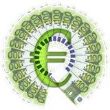 euro för 100 sedlar royaltyfri illustrationer