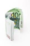 euro för 100 sedlar Royaltyfri Fotografi