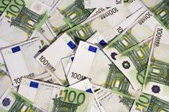 euro för 100 sedlar Fotografering för Bildbyråer
