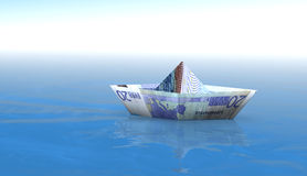 euro för 20 fartyg Fotografering för Bildbyråer