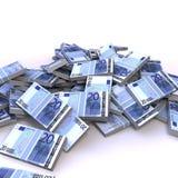euro för 20 sedlar Arkivbild