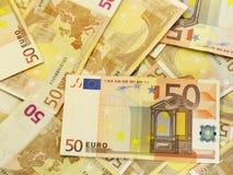 euro för 50 bakgrund Arkivbilder
